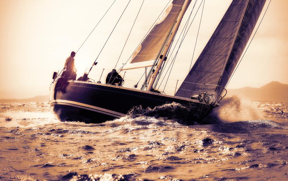 Das Segelboot zur Gesundheit